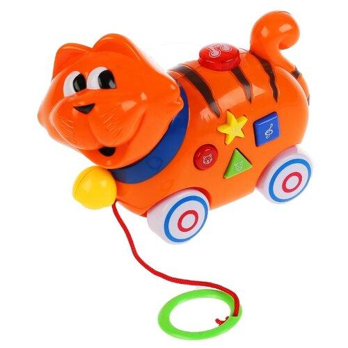 Купить Каталка-игрушка Умка Котик B610847-R оранжевый, Каталки и качалки
