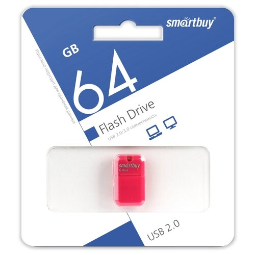 Фото - Флешка SmartBuy Art 64GB розовый 1 шт. флешка promega jet high speed 64gb белый 1 шт