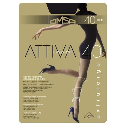 Колготки Omsa Attiva XXL 40 den, размер 6-XXL, nero (черный) колготки omsa attiva 20 den размер 2 s nero черный