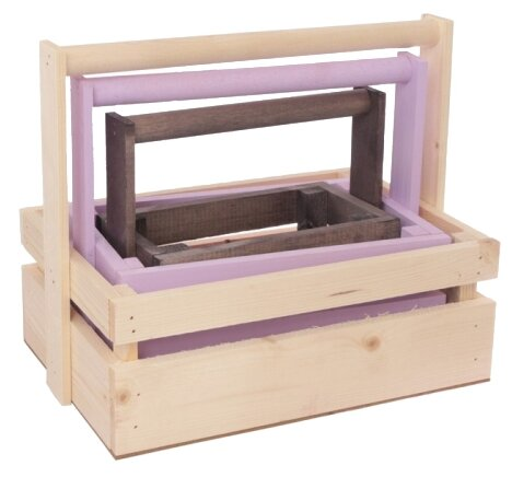 Ящик Дарите счастье набор реечный 3 в 1 с шильдиком и ручкой
