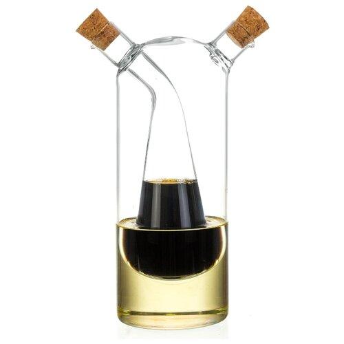 Фото - Бутылка для масла/уксуса 350 и 90 мл Vetro бутылка д масла уксуса 2в1 350 60мл с 2 мя пробками стекло