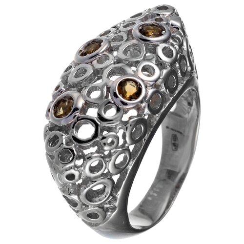 ELEMENT47 Кольцо из серебра 925 пробы с кубическим цирконием R101116-002_NZI_001_WG, размер 17.25