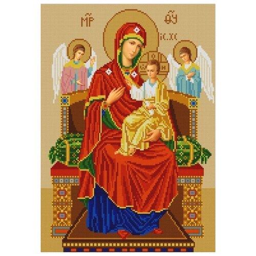 Купить Богородица Всецарица (рис. на сатене 29х39) 29х39 Конек 9219, Конёк, Канва