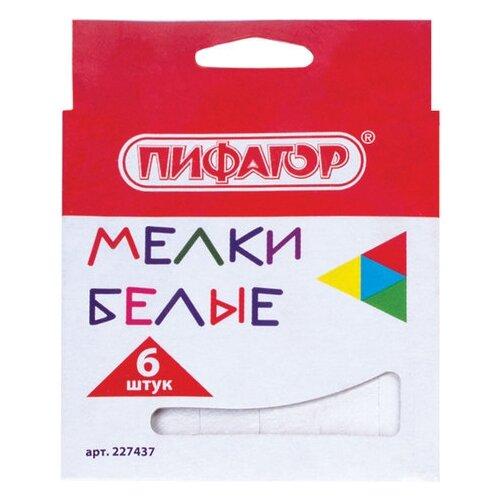 Купить Пифагор Мелки 6 шт (227437), Пастель и мелки