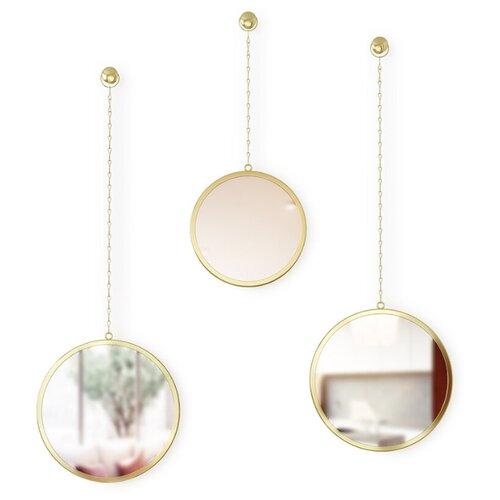 Зеркала декоративные Umbra Dima круглые латунь umbra комплект зеркал dima 3 шт