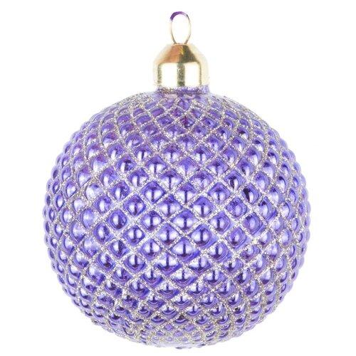 Набор елочных игрушек KARLSBACH 08585/008587/08589, фиолетовый