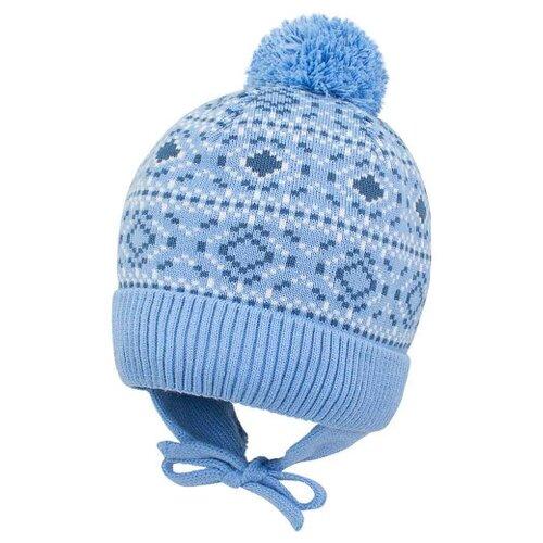 Шапка Prikinder размер 54, голубой шапка бини prikinder размер 52 54 джинса