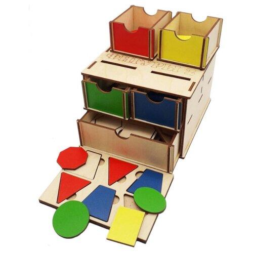 Фото - Сортер TAU TOY Комодик Фигуры 2 деревянные игрушки tau toy головоломка никитина собери квадрат 7 28х28 см