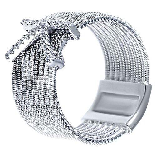 Фото - JV Серебряное кольцо с кубическим цирконием DM2329-KR-KO-001-WG, размер 18 jv серебряное кольцо с кубическим цирконием dm0026r ko 001 wg размер 18
