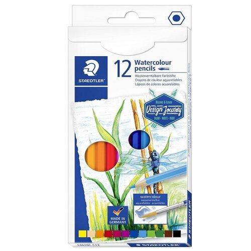 Купить Staedtler Карандаши акварельные Design Journey 12 цветов (146 10CC12), Цветные карандаши
