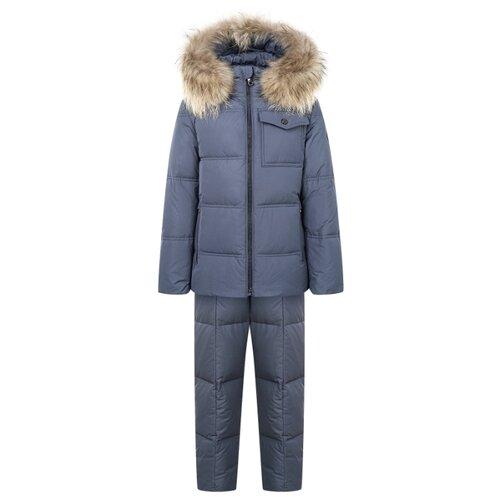 Купить Комплект с полукомбинезоном JUMS kids 2121516/2121576 размер 128, серый, Комплекты верхней одежды