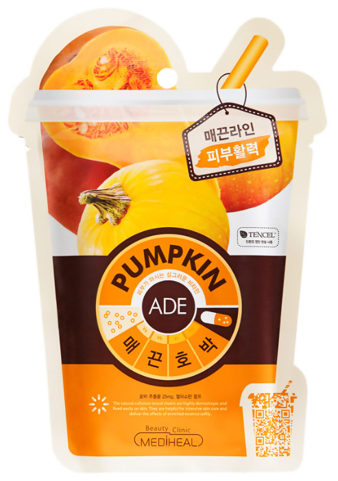 MEDIHEAL тканевая витаминная маска Pumpkin Ade