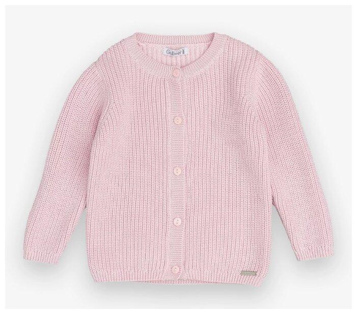 Купить Кардиган Gulliver Baby размер 80, розовый по низкой цене с доставкой из Яндекс.Маркета
