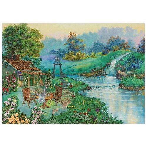 Купить PANNA Набор для вышивания нитками и лентами Живая картина 29 х 21 см ( ЖК-2051 ), Наборы для вышивания