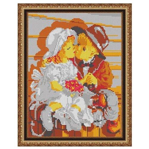 Светлица Набор для вышивания бисером Первый поцелуй 24 х 30 см, бисер Чехия (535П)