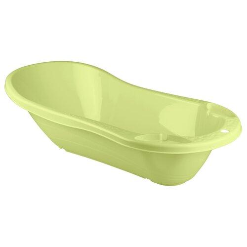 Купить Ванночка с клапаном для слива воды Бытпласт салатовый, Ванночки