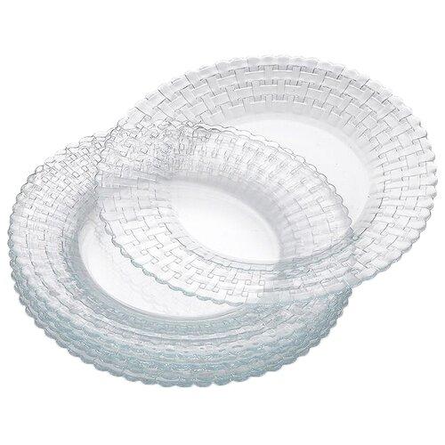 Pasabahce Набор тарелок Habitat 20 см 6 шт прозрачный