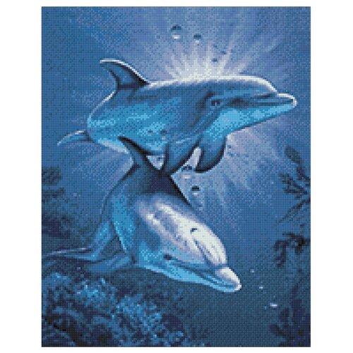 Купить Гранни Набор алмазной вышивки Свидание дельфинов (Ag 115) 38х48 см, Алмазная вышивка