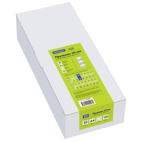Фото - Пружина OfficeSpace пластиковые 10 мм белый 100 шт. пружина officespace пластиковые 6 мм черный 100 шт