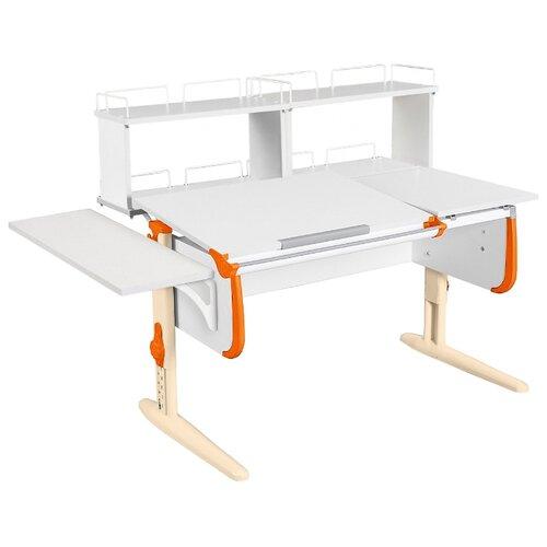 Стол ДЭМИ СУТ-25-02Д2 145x82 см белый/оранжевый/бежевый стол дэми сут 25 02д2 145x82 см белый зеленый бежевый