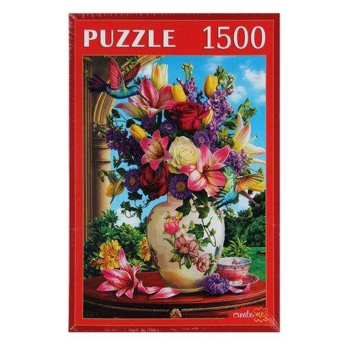 Купить Пазл Рыжий кот Цветы и колибри (Ф1500-0643), 1500 дет., Пазлы