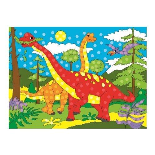 Купить Рыжий кот Мозаика гелевая Динозавры (М-7953), Поделки и аппликации
