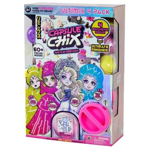 цена на Игровой набор Moose Capsule Chix 4 куклы 12 см, 59204