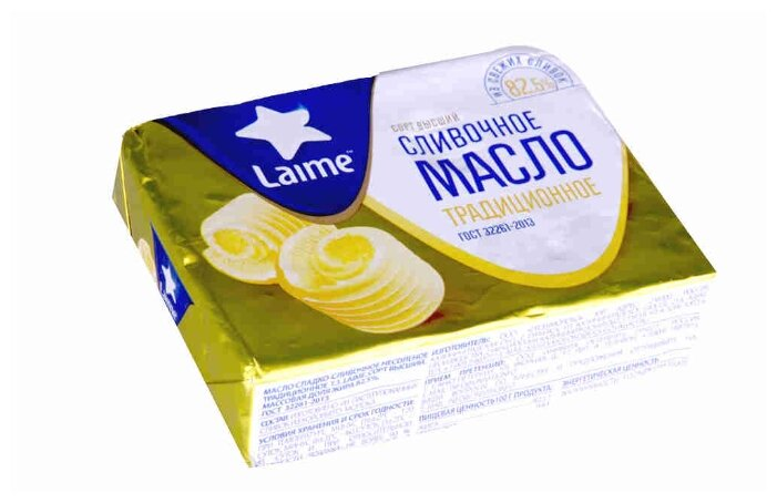 Laime Масло сливочное Традиционное 82.5%, 180 г
