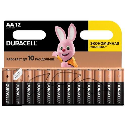 Фото - Батарейка Duracell Basic AA, 12 шт. батарейка duracell basic aa 18 шт