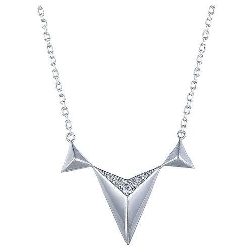 ELEMENT47 Колье из серебра 925 пробы с фианитами SN-B0429_001_WG, 45 см