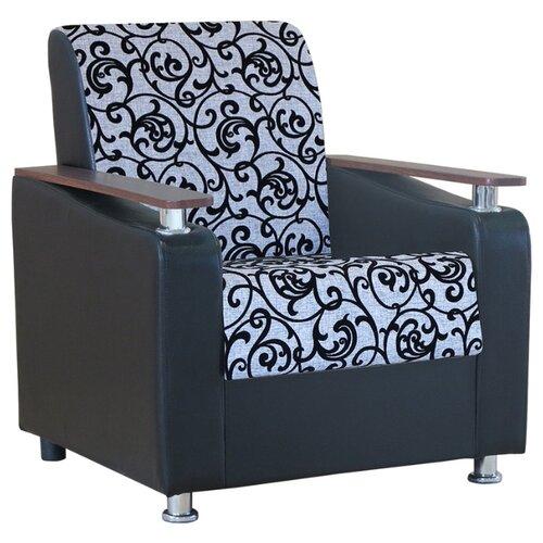 Классическое кресло Шарм-Дизайн Мелодия ДП №1 размер: 79х84 см, обивка: комбинированная, цвет: шенилл серый узор