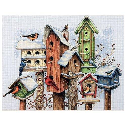 Купить Dimensions Набор для вышивания Зимние скворечники 27 x 35 см (70-08863), Наборы для вышивания