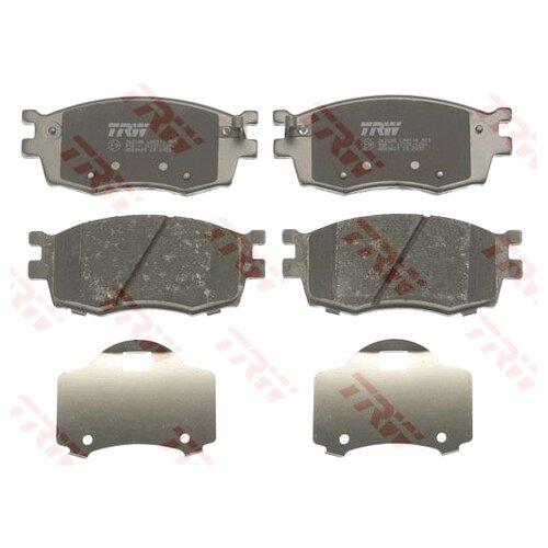 Фото - Дисковые тормозные колодки передние TRW GDB3420 для Hyundai Accent, Kia Rio (4 шт.) дисковые тормозные колодки передние trw gdb3286 для toyota highlander lexus rx 4 шт