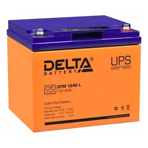 Аккумуляторная батарея DELTA Battery DTM 1240 L 40 А·ч аккумуляторная батарея delta battery dtm 1275 l 75 а·ч