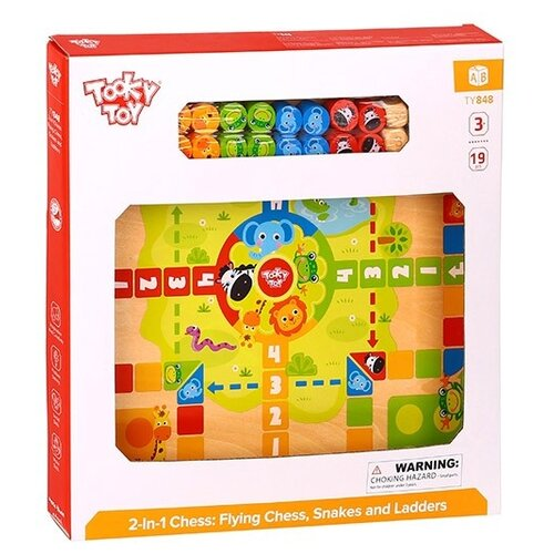 Набор настольных игр Tooky Toy 2 In 1 Chess: Ludo Game, Snakes and Ladders