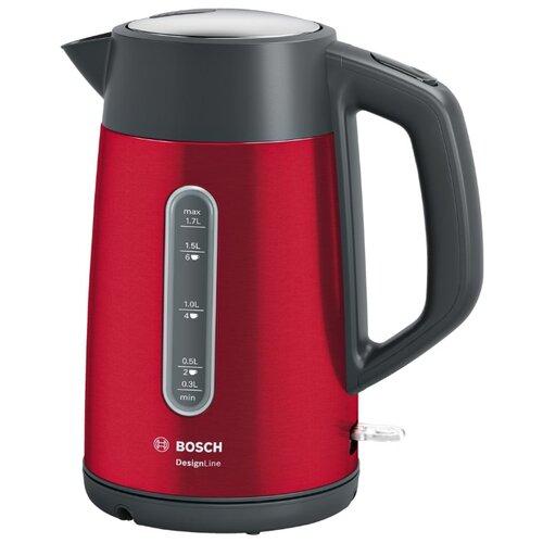 Фото - Чайник Bosch TWK 4P434, red чайник электрический металлический bosch twk 4p434 1 7 л 2 4 квт