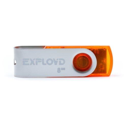 Фото - Флешка EXPLOYD 530 8GB orange игрушка orange toys бегемот в оранжевой толстовке 30cm ms6204 30