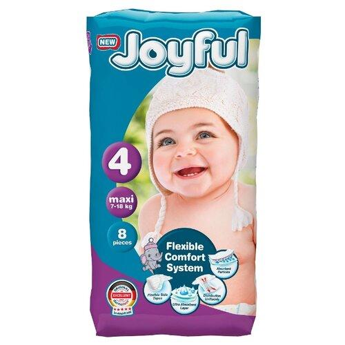 Купить Joyful подгузники 4 (7-18 кг) 8 шт., Подгузники