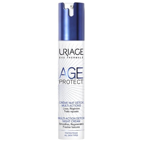 Крем Uriage Age Protect детокс многофункциональный ночной, 40 мл uriage age protect сыворотка интенсивная многофункциональная 30 мл