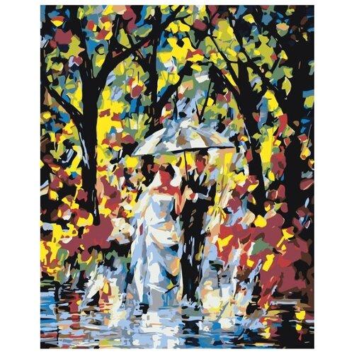 Купить Картина по номерам Живопись по Номерам Молодожёны под зонтом , 40x50 см, Живопись по номерам, Картины по номерам и контурам