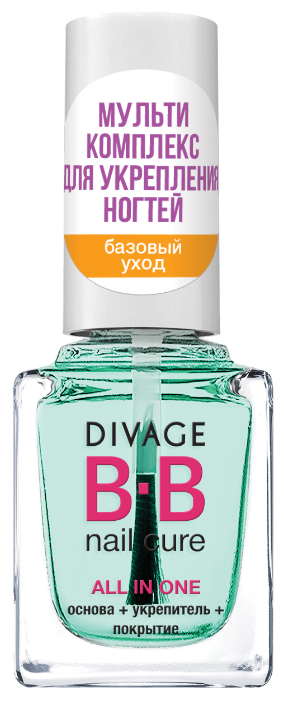 Базовое и верхнее покрытие DIVAGE BB Nail Cure All in One укрепляющее 12 мл