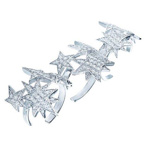 ELEMENT47 Кольцо из серебра 925 пробы с кубическим цирконием WR25855-W1_KO_001_WG, размер 17