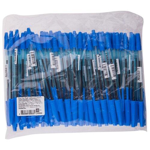 Купить СТАММ Набор шариковых ручек Офис, 1.2 мм, 100 шт, синий цвет чернил, Ручки