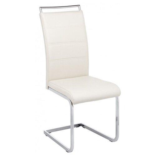 Стул Woodville Oddy, металл/искусственная кожа, цвет: white стул woodville kosta металл искусственная кожа цвет white black