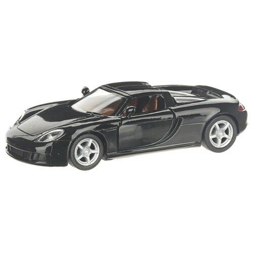 Купить Детская инерционная металлическая машинка с открывающимися дверями, модель Porsche Carrera GT, черный, Serinity Toys, Машинки и техника