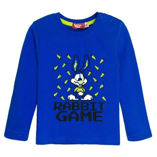Купить Лонгслив Let's Go, размер 80, синий, Футболки и рубашки