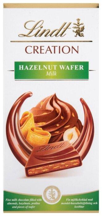 Шоколад Lindt Молочный Creation с начинкой из пралине и кусочками вафли