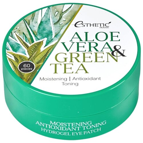 Esthetic House Патчи для кожи вокруг глаз Aloe Vera & Green Tea Hydrogel Eye Patch (60 шт.) esthetic house патчи для кожи вокруг глаз aloe vera