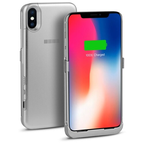 Купить Чехол-аккумулятор INTERSTEP Metal battery case для iPhone X silver