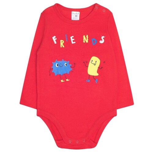 Боди crockid размер 80, насыщенно-красный боди для мальчика cherubino цвет красный cwn 4164 185 размер 56